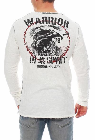 RioRim Herren T-Shirt Langarmshirt Longsleeve Shirt ATOHI 3106 weiß