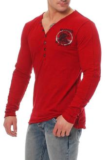 RioRim Herren T-Shirt Longsleeve ATOHI 3106 rot Größe S