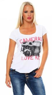 Local Celebrity Damen T-Shirt Kurzarmshirt Shirt CAMERAS...