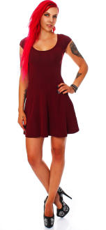 all about eve Damen Kleid Sommerkleid Partykleid burgund