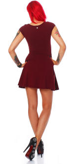 all about eve Damen Kleid Sommerkleid burgund S (8)