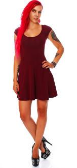 all about eve Damen Kleid Sommerkleid burgund L (12)