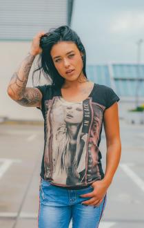 Religion Damen T-Shirt RIOT TEE - B115RIT65 schwarz XS