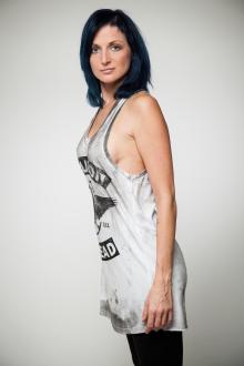 Religion Damen T-Shirt Top Dress BIKER SKULL B134BSD51