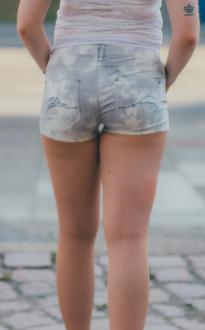 SKORPION BAY Damen Hotpants Short TWILL SNOPY BATIK WBM2925 W30