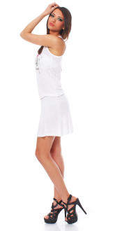 Scorpion Bay Damen Kleid Dress Strandkleid Sommerkleid WD2965 weiß S