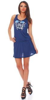 Scorpion Bay Damen Kleid Dress Strandkleid Sommerkleid WD2965 blau XS