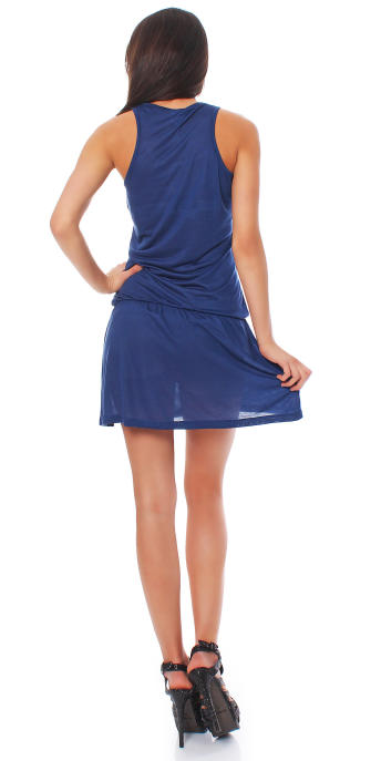 Scorpion Bay Damen Kleid Dress Strandkleid Sommerkleid WD2965 blau S