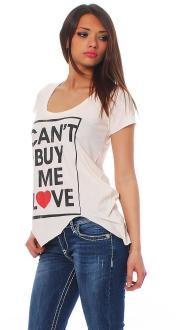 Local Celebrity Damen T-Shirt Shirt Top Kurzarm CAN`T - W125-LOC2720-PPK Größe S