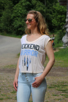 Local Celebrity Damen T-Shirt Shirt Top Kurzarm WEEKEND...