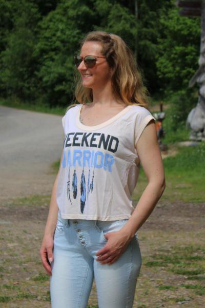 Local Celebrity Damen T-Shirt Shirt Top Kurzarm WEEKEND W250-LOC2742-PPK Größe L