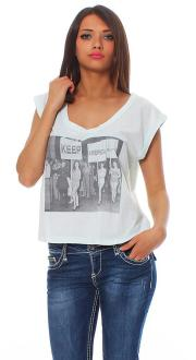 Local Celebrity Damen T-Shirt KEEP W250-LOC2772-PLB