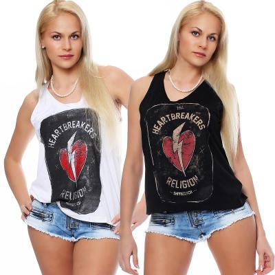 Religion Damen T-Shirt Kurzarmshirt Shirt Top HEART BRAEKER - B1116HBT73 schwarz M