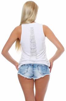 Religion Damen T-Shirt Kurzarmshirt Shirt Top HEART BRAEKER - B1116HBT73 weiß XS
