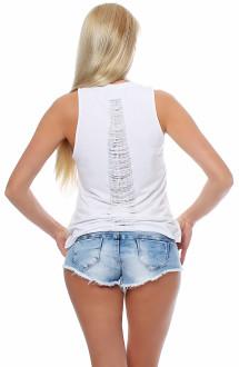 Religion Damen T-Shirt Kurzarmshirt Shirt Top HEART BRAEKER - B1116HBT73 weiß S