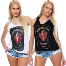 Religion Damen T-Shirt Kurzarmshirt Shirt Top HEART BRAEKER - B1116HBT73 weiß L