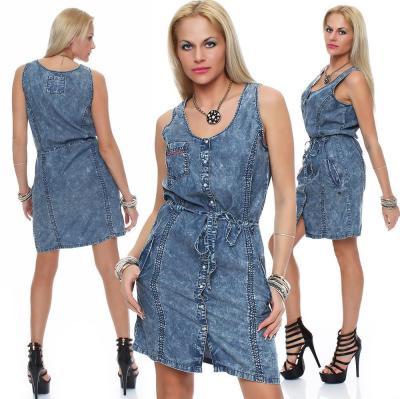 M.O.D Damen Jeans Kleid Dress DR100 XS